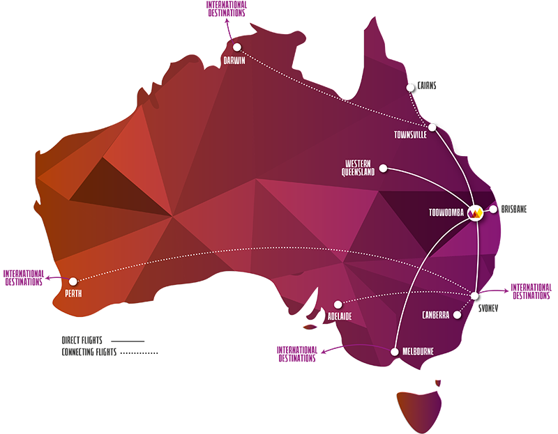 Toowoomba Wellcamp Airport (WTB) | Direct to Sydney, Melbourne, Townsville  and Western Queensland