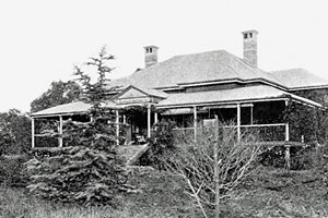 The original Wellcamp Downs Homestead pictured in a photo from the early 1900's | www.wellcamp.com.au