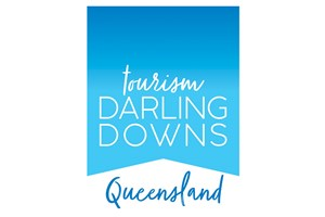 The Tourism Darling Downs logo shows their support for the growth of air services for our community, From Toowoomba to the World | www.wellcamp.com.au