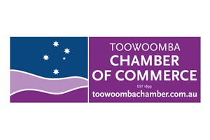 The Toowoomba Chamber of Commerce logo shows their support for the growth of air services for our community, from Toowoomba to the World | www.wellcamp.com.au