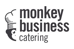 The Monkey Business Catering logo shows their support for the growth of air services for our community, from Toowoomba to the World | www.wellcamp.com.au