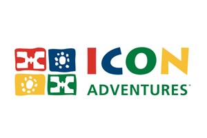 The Icon Adventures logo shows their support for the growth of air services for our community, from Toowoomba to the World | www.wellcamp.com.au