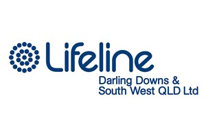 The Lifeline Darling Downs & South West QLD Ltd logo shows their support for the growth of air services for our community, from Toowoomba to the World | www.wellcamp.com.au