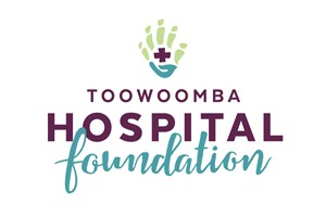 The Toowoomba Hospital Foundation logo shows their support for the growth of air services for our community, from Toowoomba to the World | www.wellcamp.com.au