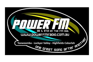 The Power FM logo shows their support for the growth of air services for our community, from Toowoomba to the World | www.wellcamp.com.au