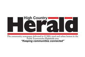 The High Country Herald logo shows their support for the growth of air services for our community, from Toowoomba to the World | www.wellcamp.com.au