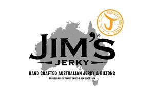 The Jim's Jerky logo shows their support for the growth of air services for our community, from Toowoomba to the World | www.wellcamp.com.au