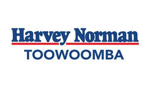 The Harvey Norman Computers logo shows their support for the growth of air services for our community, from Toowoomba to the World | www.wellcamp.com.au