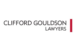 The Clifford Gouldson Lawyers logo shows their support for the growth of air services for our community, from Toowoomba to the World | www.wellcamp.com.au