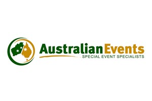 The Australian Events logo shows their support for the growth of air services for our community, from Toowoomba to the World | www.wellcamp.com.au