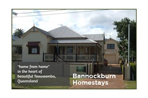 The Bannockburn Homestays logo shows their support for the growth of air services for our community, from Toowoomba to the World | www.wellcamp.com.au