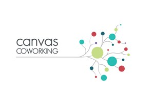 The Canvas Coworking logo shows their support for the growth of air services for our community, from Toowoomba to the World | www.wellcamp.com.au