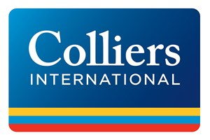 The Colliers International logo shows their support for the growth of air services for our community, from Toowoomba to the World | www.wellcamp.com.au