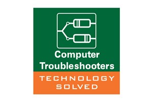 The Computer Troubleshooters logo shows their support for the growth of air services for our community, from Toowoomba to the World | www.wellcamp.com.au