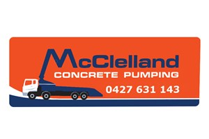 The McClelland Concrete Pumping logo shows their support for the growth of air services for our community, from Toowoomba to the World | www.wellcamp.com.au