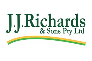 The JJ Richards & Sons logo shows their support for the growth of air services for our community, from Toowoomba to the World | www.wellcamp.com.au